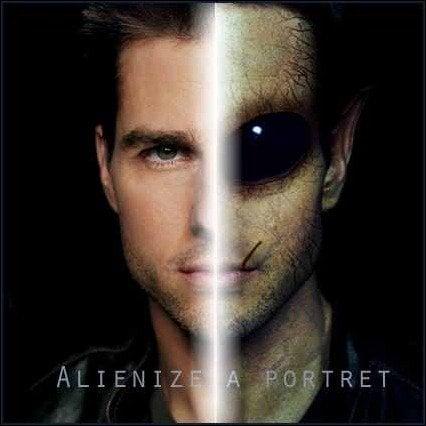 Transform a person into an alien