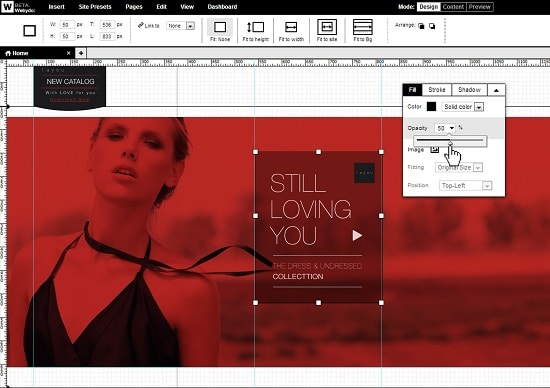 Webydo advanced design features