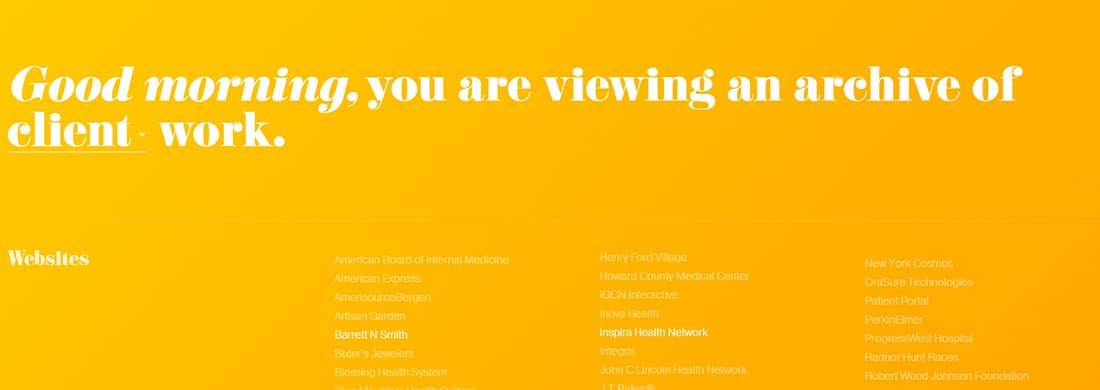 Jon jon - award winning creative director, developer and artist Orange Website
