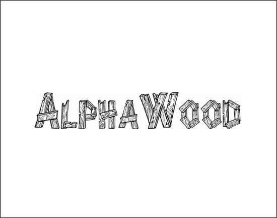AlphaWood 3D font