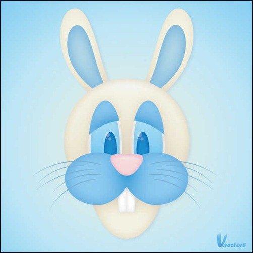 Create the face of a Goofy Bunny