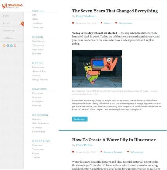 Smashing Magazine online web design courses tutorials
