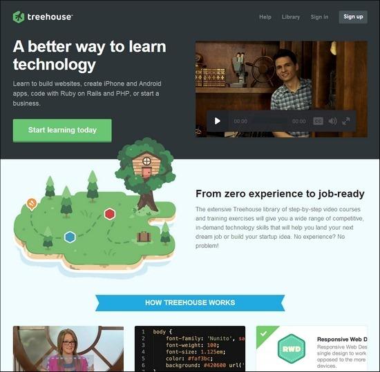 TreeHouse online web design courses tutorials