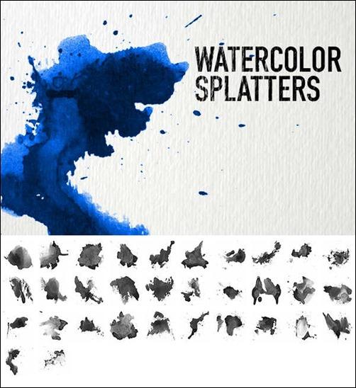Watercolor Splatters by dennytang