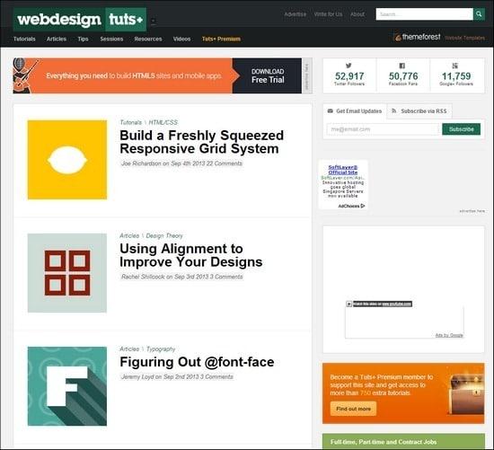 Web Design Tuts+ online web design courses tutorials