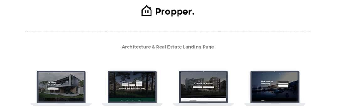Propper - Architecture WordPress Theme Clean Portfolio Website Templates