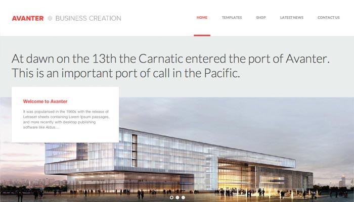 Avanter Corporate Architecture Theme