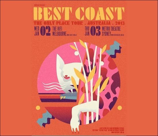 Best Coast poster design