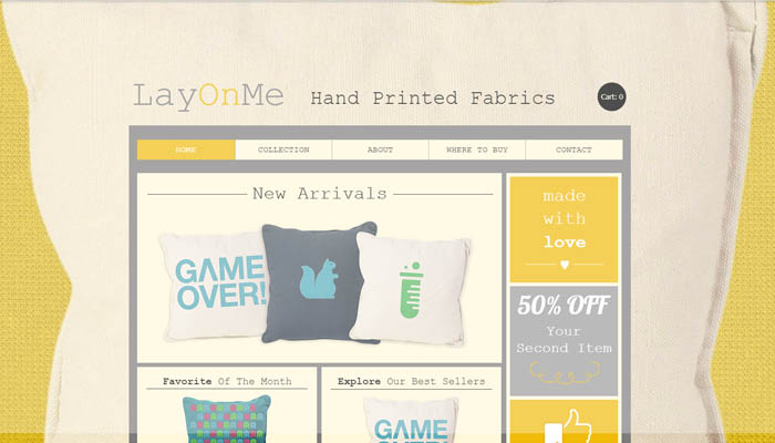 Big Fat Pillows wix website template