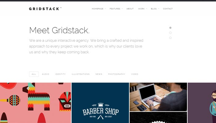 GridStack Responsive Agency WordPress Theme