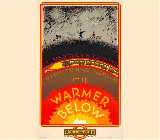 It is Warmer Below poster design