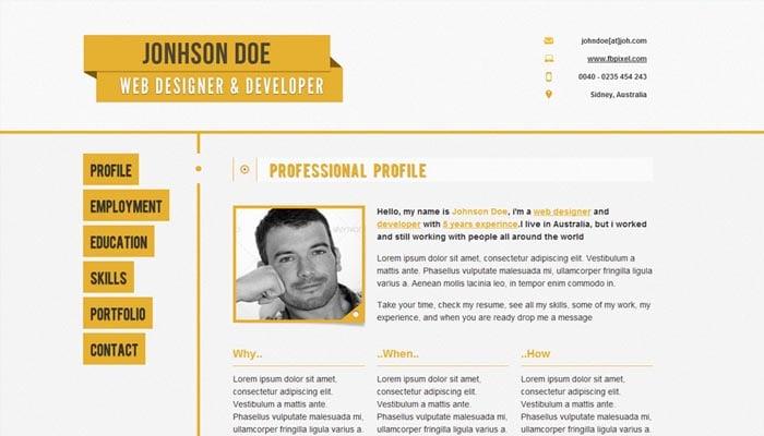 Responsive Resume CV