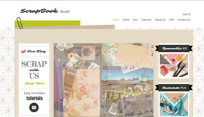 Scrapbook Studio wix website template