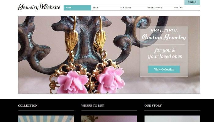 jewelry wix website template