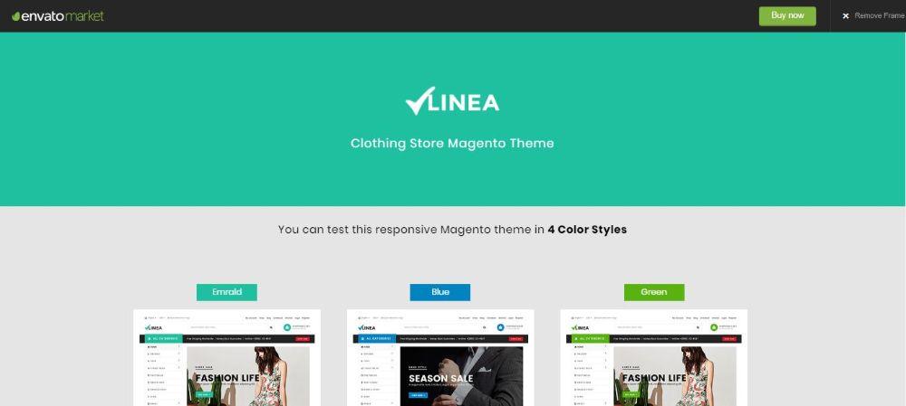 Linea - Clothing Store Magento Theme