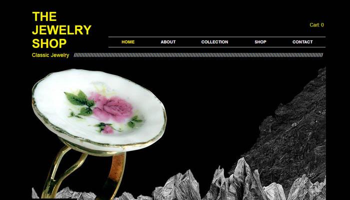 vintage jewelry wix website template