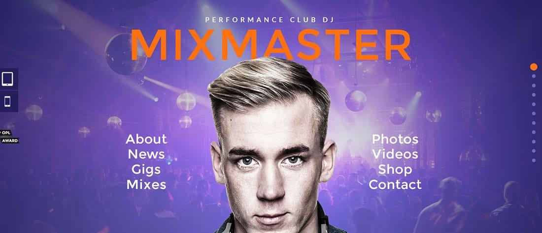 MixMaster Muse Website Templates