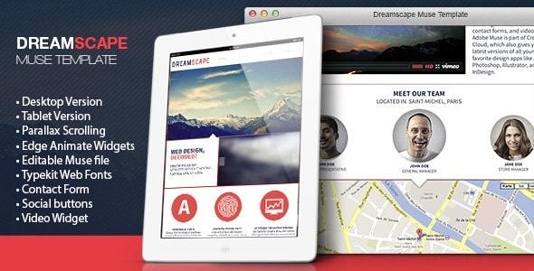 DreamScape Muse Website Template