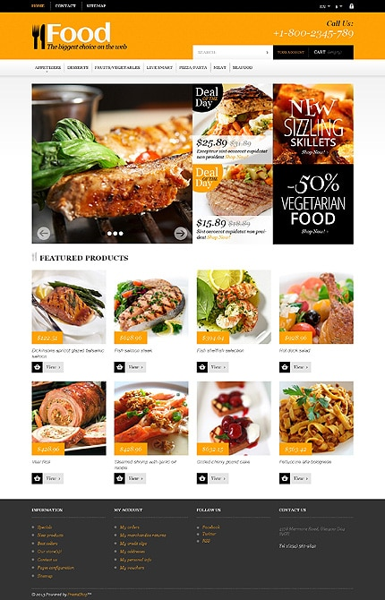 Food Store User-Friendly PrestaShop Templates