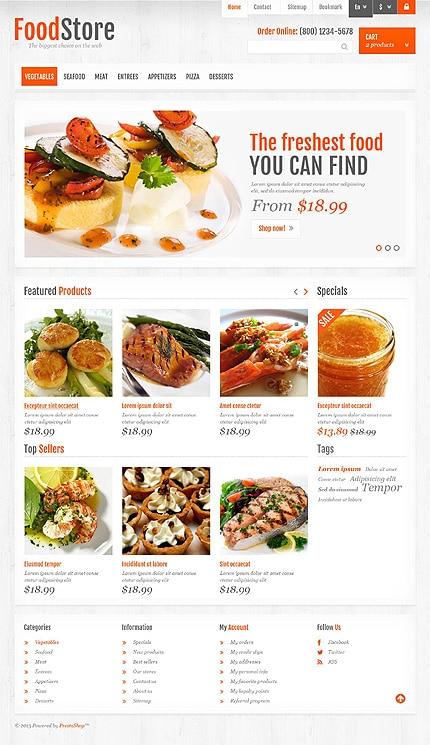 FoodStore PrestaShop Template