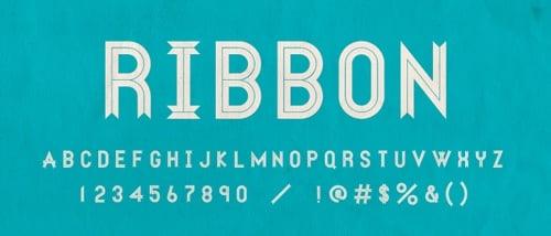 Ribbon Banner Fonts
