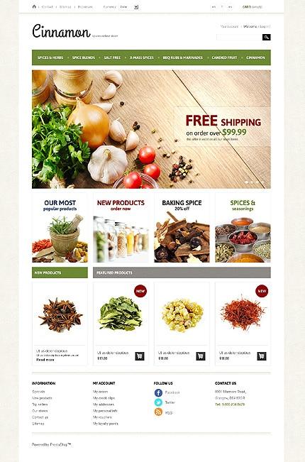 Spices & Herbs PrestaShop Template
