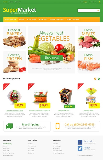 Supermarket PrestaShop Template