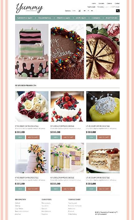 Yummy Cakes PrestaShop Template