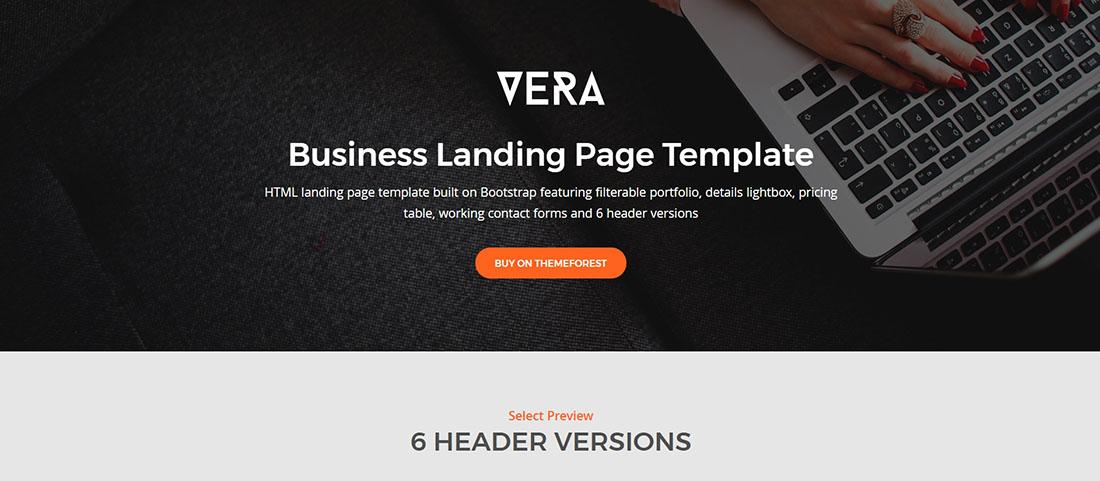 Vera Corporate Landing Page Templates