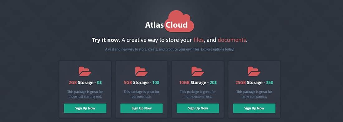 AtlasCloud Corporate Landing Page