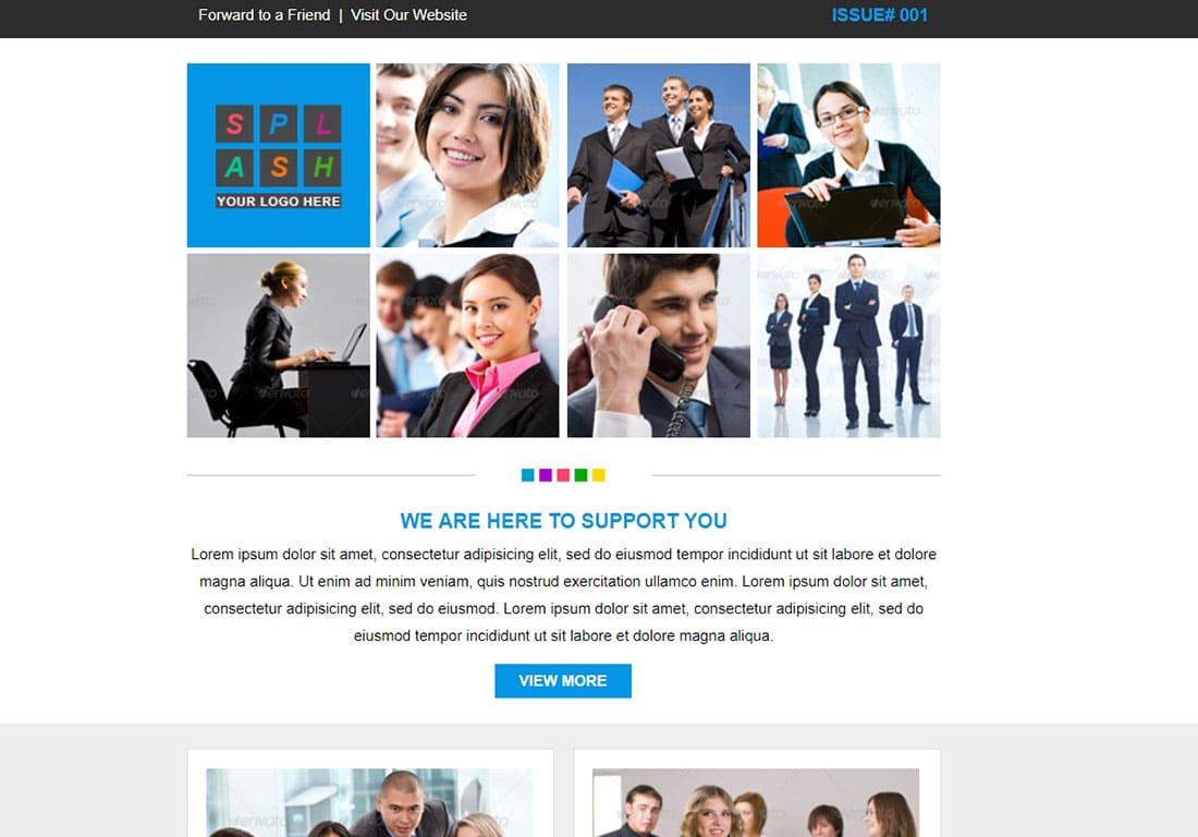 SPLASH - html newsletter template