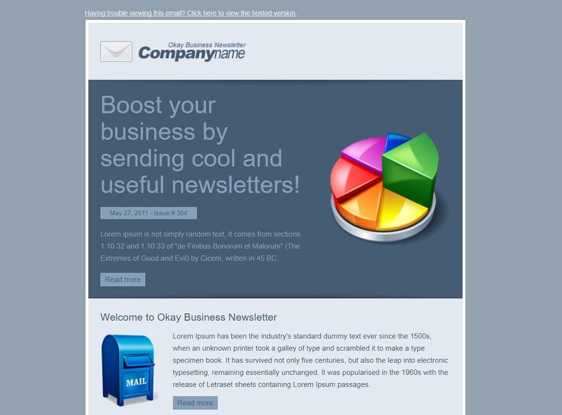 Okay Business Newsletter template