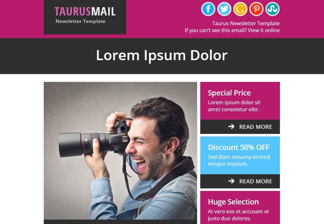 Taurus - responsive html email template
