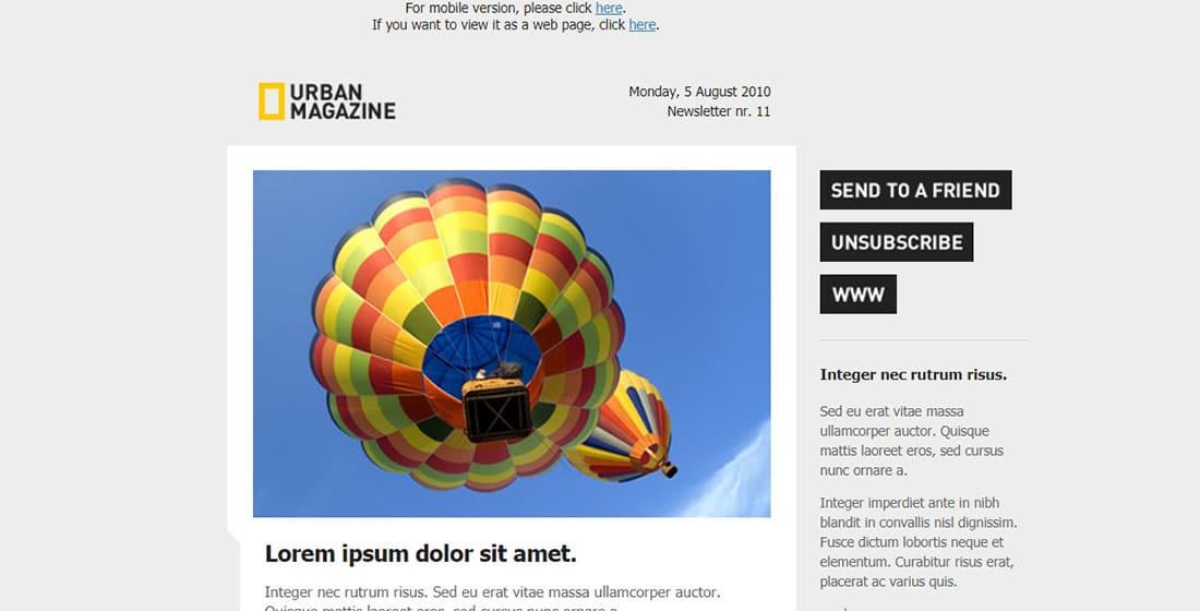 Urban Magazine - newsletter template