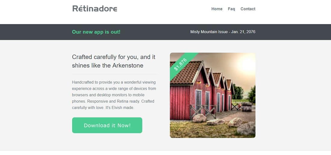 Retinadore - responsive newsletter template