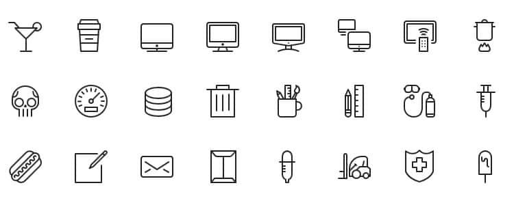 iOS7 Vector Icons