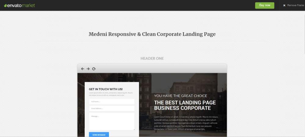 Medeni Responsive & Clean Corporate Landing Page
