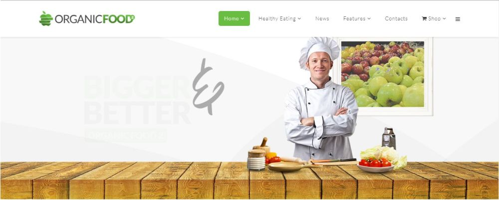 Organic Food - Kitchen, Farm, Corporate, Landing Page & E-commerce HTML Template