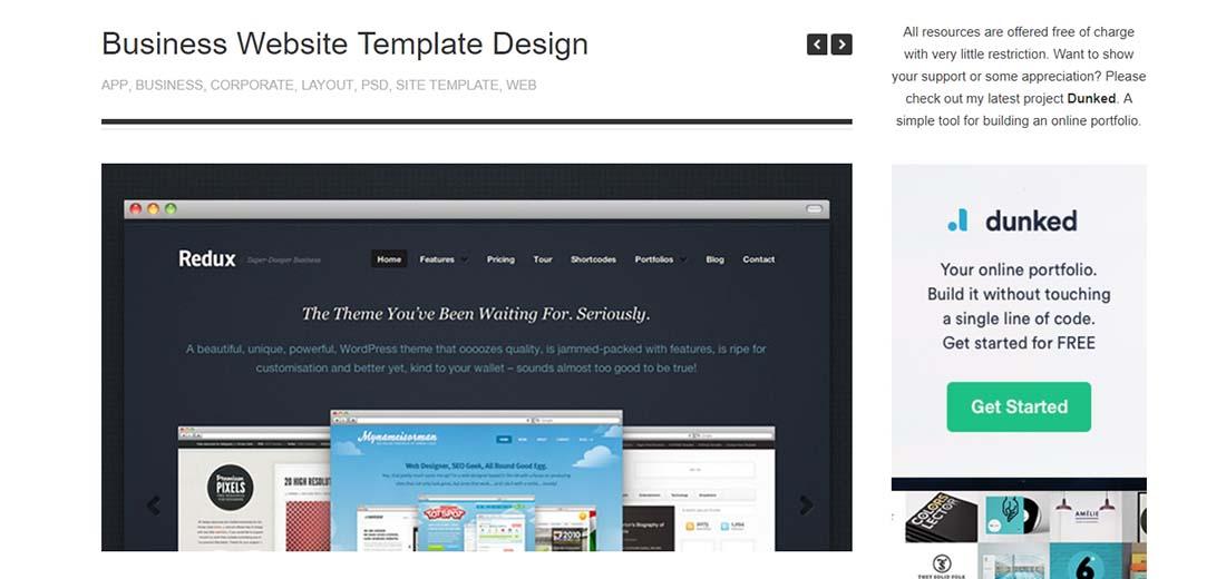 Business Website Template Design