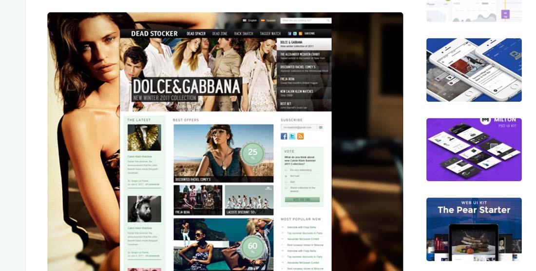 Dead Stocker - Fashion Free PSD Website Template