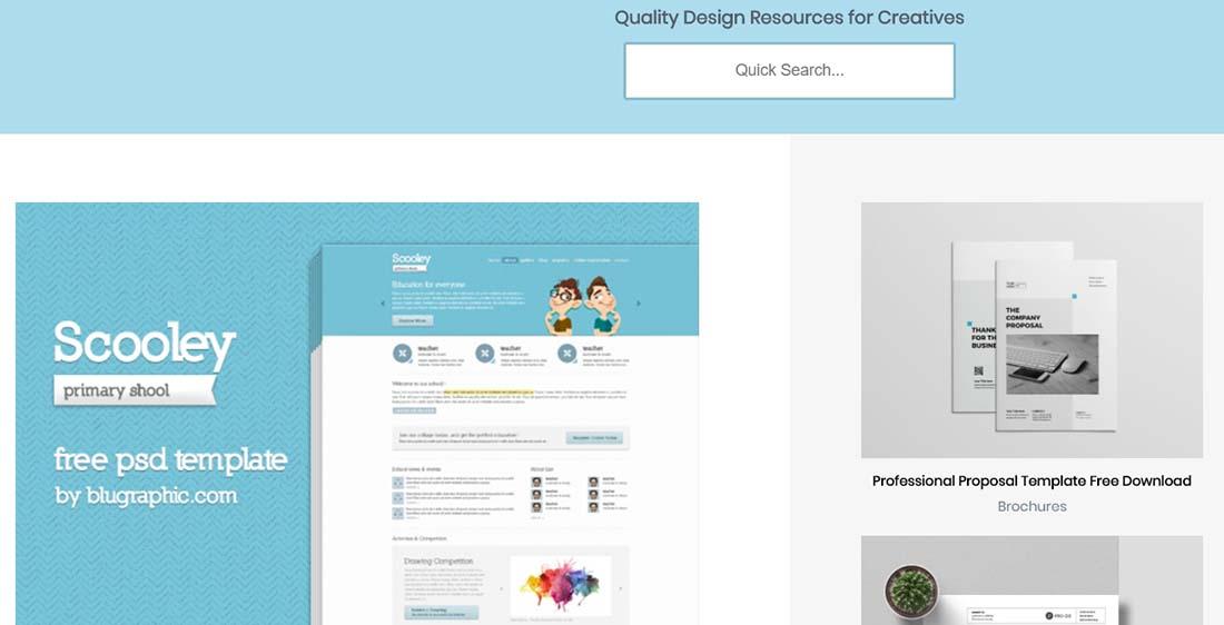 Primary School Website Theme (Psd)