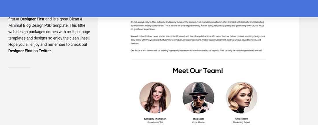 Clean Minimal Blog Design