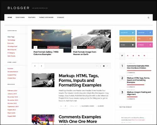 AcosminBlogger Free Responsive WordPress Theme