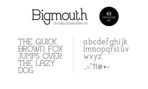 Bigmouth Free Behance Font