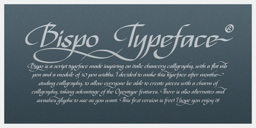 Bispo free font