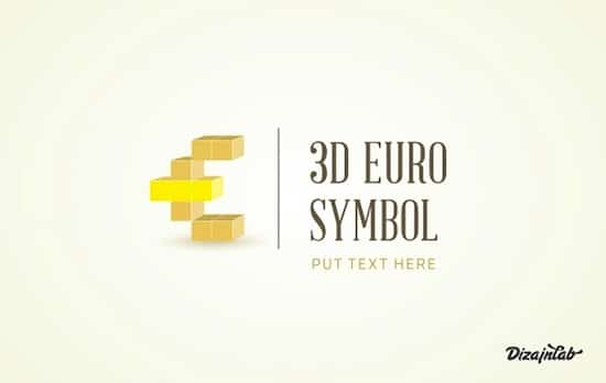 Euro 3D symbol Free Logo Templates