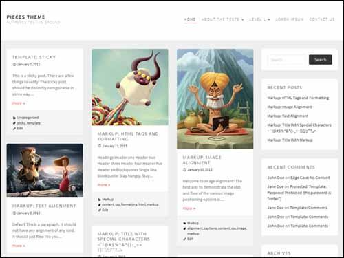 Pieces Free Responsive WordPress Theme
