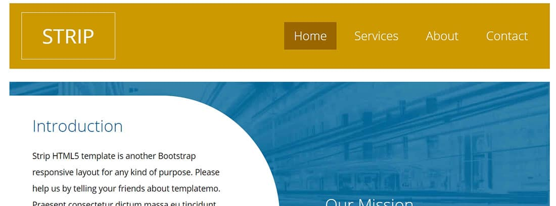 Strip Free HTML Templates