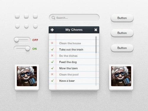 CSS3 UI Kit (PSD+CSS) HTML UI Kits Freebies