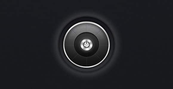 Dark power button PSD